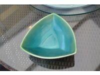 Triangular Teal Dish