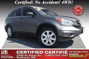 2010 Honda CR-V LX Certified! No Accident! 4WD! Power Options!