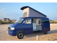 vw t4 camper conversion with pop top and m1 rock and roll bed like t5
