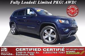 2015 Jeep Grand Cherokee Limited TOP OF THE LINE!!!! Fully Loade