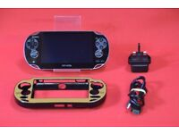 Sony Playstation PS Vita WiFi PCH-1006 Black with Case £80