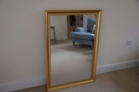 Gold framed mirror