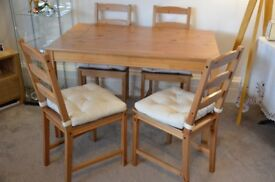 *** Sold *** Dining Tables & Chairs with cushions *** Sold ***