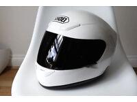 Shoei White Crash Helmet XR1000 Small | Clear & Black Visors + Headset | XR 1000 Motorbike Full Face