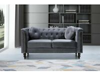 SALE ON FURNITURE-Plush Velvet Florence Sofa- 3+2 Seater Set-In Grey Colors Only-Call Now