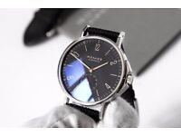 Nomos Glashütte Ahoi Atlantic Watch Warranty Wristwatch Atlantic Blue with Omega Zenith £1800