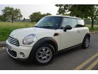 MINI HATCH 1.6 ONE (PEPPER),12M MOT,PETROL,MANUAL,WHITE,PARKING SENSORS