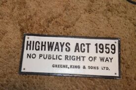 Greene king LTD wall sign, solid cast aluminium and weighs 450 Grams This is not a reproduction