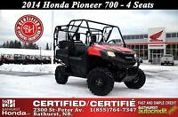 2014 Honda Pioneer700 700 AMAZING VALUE!!! Certified! Local Trad