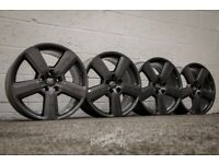 """*Refurbished* Genuine 18"""" Audi A3 S-Line 'RS6 Style' Alloy Wheels 5x112 Grey"""