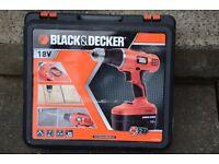 Black & Decker 18v Drill.
