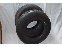 Two Free Car Tyres 175-13c Radials