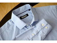 "Donna Karan New York Light Blue Shirt S(15"") tailored fit. Used once. Neck 38cm/15"" Chest 95cm/37.5"""