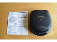 Technics SL-XP165 Portable Personal CD Player MASH. Excellent Condition
