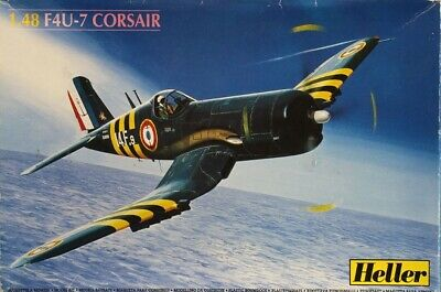 Heller 1:48 F4U-7 Corsair Plastic Aircraft Model Kit 80415U1