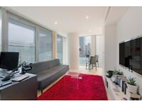 Modern 1 bed apartment in 8th floor of famous development Landmark - short walk Canary Wharf E14 JS