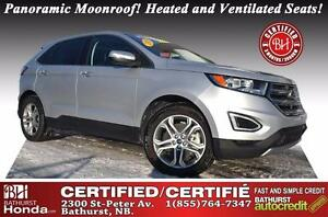2015 Ford Edge Titanium AWD Low Mileage! Certified! Auto Start!