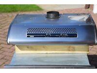Zanussi stainless steel cooker hood extractor/recirculation (as phot)