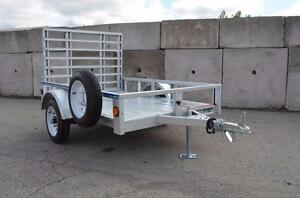4X6 Galvanized Trailer, Drive up Gate  brand new Full Warranty Blowout Sale