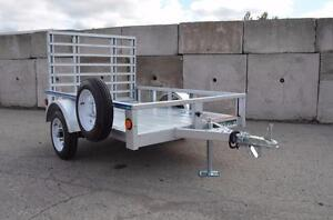 LIQUIDATION PRICING 4X6 Utility Trailer Galvanized. Blowout Sale for This Years Remaining Stock! More Sizes Available!