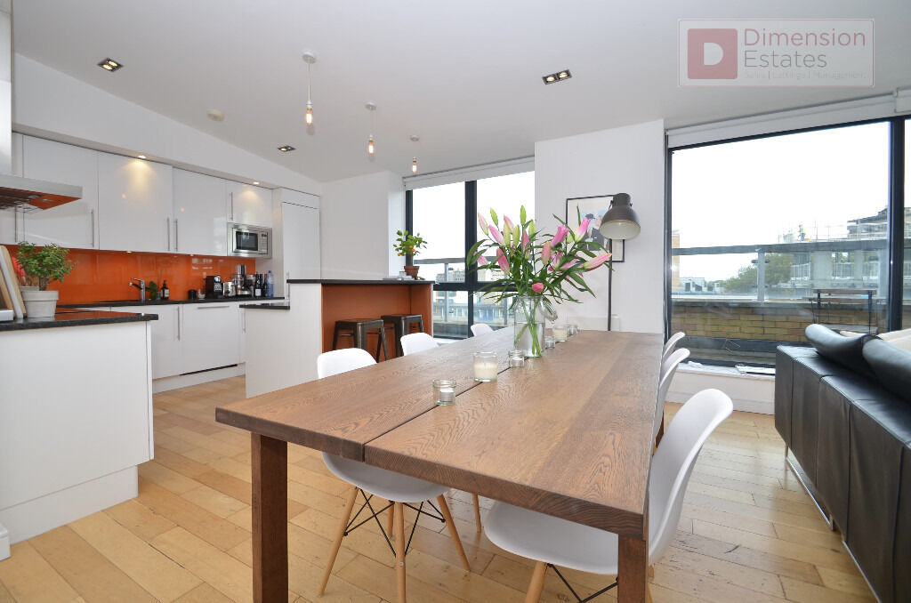 Stunning 2 Bed + 2 Bath + 2 Terrace Penthouse Kingsland Road, E2 - Available 8th of December 2016