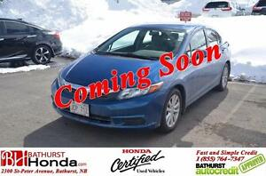 2012 Honda Civic Sedan EX Honda Certified! Power Moonroof! Bluet