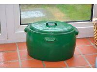 Cauldron Old/Vintage Cast Iron 5 gallon for garden/log bucket by woodburner