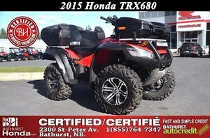 2015 Honda TRX680 Rincon LOW KM's!! Certified! Fully Automatic!