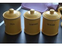 tea coffee sugar and tea pot milk jug and sugar bowl