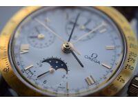 Omega Speedmaster Classic perpetual Calendar automatic chronograph wristwatch-'90s- NOS-Complication
