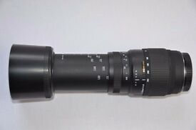 Sigma / CANON 300mm Zoom AF 70-300mm f4-5.6 DG Macro Canon Fit Lens Excellent
