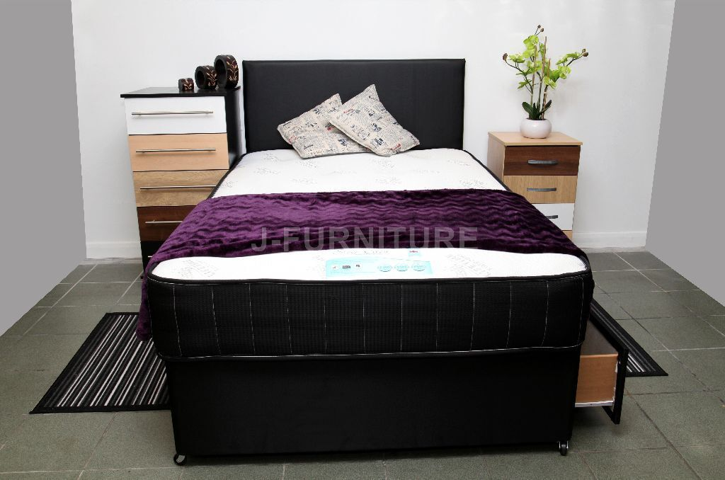 Super Quality Brand New Divan Bed With Luxury Orthopaedic Memory Foam 10 Mattress All Sizes