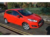JUST FORD SERVICED,6M GOLD WARRANTY,2014 FORD FIESTA 1.6 ZETEC POWERSHIFT,PETROL,AUTO,RED,HPI CLEAR