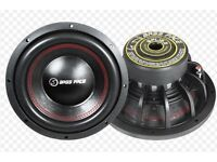 """Bass Face 12"""" Inch Subwoofer Dual Voice Coil 2 Ohm Capable 2500w spl12.2 car speaker stereo"""