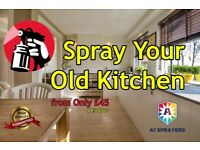 Dont Replace Just Re Spray Your Old Kitchen!!! from only £45 per door. A1 Sprayers 0131 2033029