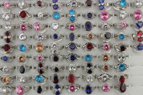 Fashion Jewelry Wholesale Lots 32pcs Mixed Charm Cubic Zirconia Lady