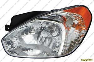 Head Light Driver Side Sedan/Hatchback Hyundai Accent 2007-2011