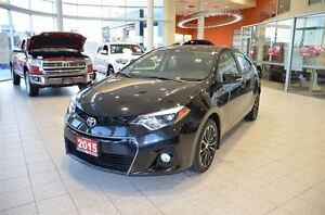 2015 Toyota Corolla S 6 Speed-Upgrade Package, Sunroof, Sport Al