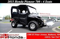 2015 Honda Pioneer 700-4 Plow Kits! Winch! Auxiliary Lights! 4Se