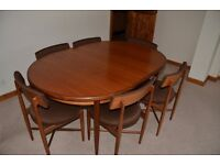 G Plan Fresco Oval Table and Six Chairs - Very Nice Condition