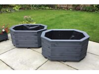 Large Extended Octagonal Treated Timber Planter