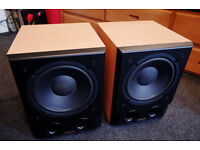 Pair of Heybrook HBS200 Subwoofers