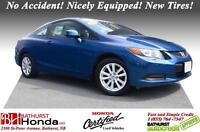 2012 Honda Civic Coupe EX No Accident! Nicely Equipped! New Tire
