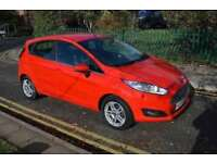 12MTH GOLD WARRANTY,11 MTHS MOT,ALLOYS,HPI CLR, 2014 FORD FIESTA 1.6ZETEC POWERSHIFT,PETROL,AUTO,RED