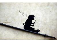 Banksy Poster Bubbles Girl Street Art A2 Size Paper Laminated Encapsulated Print Graffiti