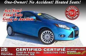 2012 Ford Focus Titanium BEAUTIFUL CAR!!! 6 Speed! One-Owner! No