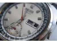Seiko automatic mechanical Doctor's chronograph wristwatch - Japan - '71 - 6139-6022