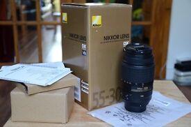 NIKON AF-S DX NIKKOR 55-300 mm f/4.5-5.6G ED VR Telephoto Lens