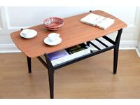 "Vintage ""Nathan"" Danish style teak slatted coffee table. Delivery. Modern / Midcentury."
