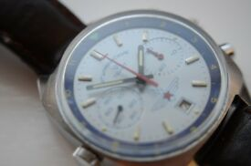 Poljot Sturmanskie Navigational manual wind mechanical chronograph wristwatch-Russian-Vintage - 3133